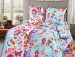 Полуторное постельное белье из бязи «Лора (Куклы Лол)»