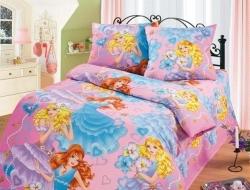 Полуторное постельное белье из бязи «Принцессы»