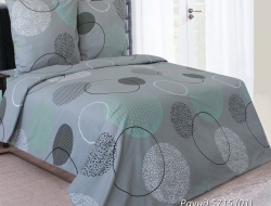 Постельное белье «Раунд 5715(01) с мятным». Ткань ТМ «Блакит»