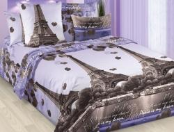 Полуторное постельное белье из бязи «Романтика Парижа»