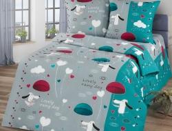 Полуторное постельное белье из бязи «Счастливый день»