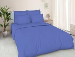 Простынь на резинке 180x200 «Синяя»