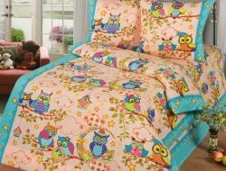 Полуторное постельное белье из бязи «Совята»