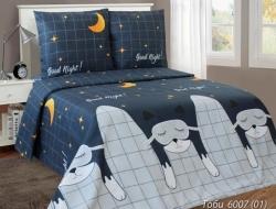 Полуторное постельное белье из бязи «Toby 6007»