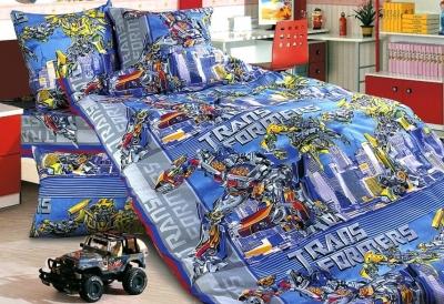 Полуторное постельное белье из бязи «Трансформеры»