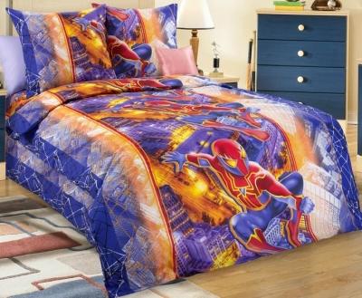 Полуторное постельное белье из бязи «Ультра (Человек Паук)»