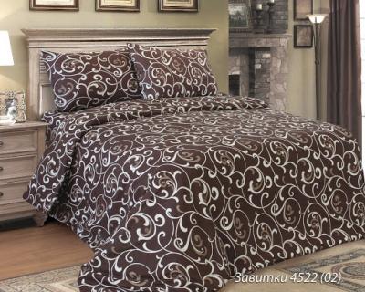 Двуспальное постельное белье из бязи «Завитки темные»